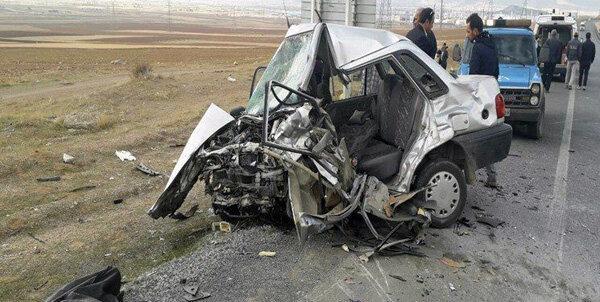 تصادف سمند و پراید 6 کشته و یک مجروح برجای گذاشت